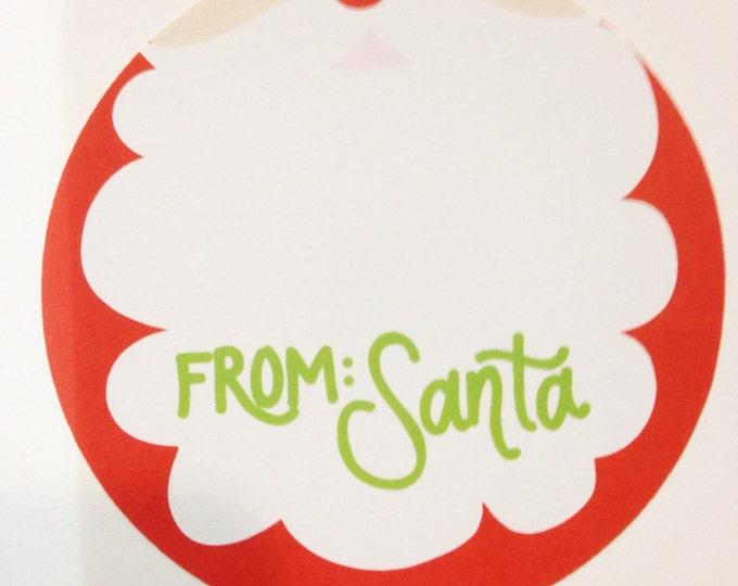 Santa Gift Sticker (Qty 24)