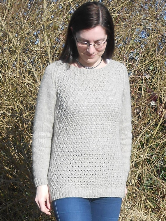 Lace Sweater / Jumper knitting pattern PDF by TheBaldySheep