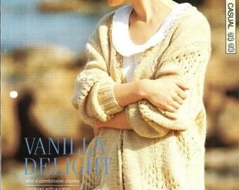 "Knitting pattern - Woman's ""Vanilla Delight"" cardigan - Instant download"