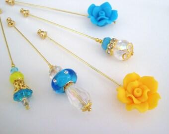 Sunshine Hijab Pins Set- Stick Pins / Hat Pins / Decorative Pins / Eid Gifts / Bridal Gifts