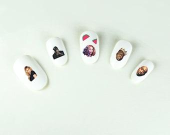 Hip Hop Mash Up Nail Decals- Jay-Z, Biggie, Tupac & More