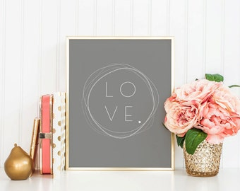 LOVE Printable Art - Instant Download - Prints and Posters - Home Decor - Wall Art