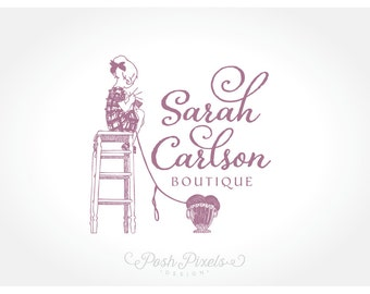 Logo Design (Premade) Crochet logo, Hand drawn logo, Child Logo, Craft Logo, Boutique logo, Whimsical logo, Yarn logo, Cute logo