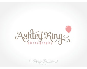 Logo Design (Premade) Balloon logo, Photography logo, Boutique logo, Script logo, Business logo
