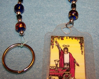 The Magician Tarot Card Key Chain