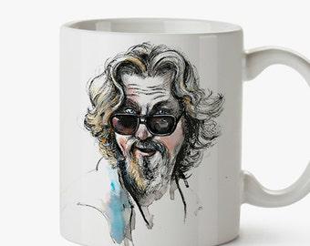 Dude Big Lebowski Mug.Tribute to Coen's film