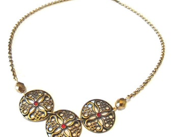 Medieval shield necklace