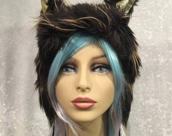 Eyelash Fur Kitty Hat