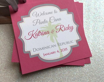 Jamaica Wedding Gift Bags : Wedding Welcome Bag/Favor Tags Customizable- Great for Destination ...