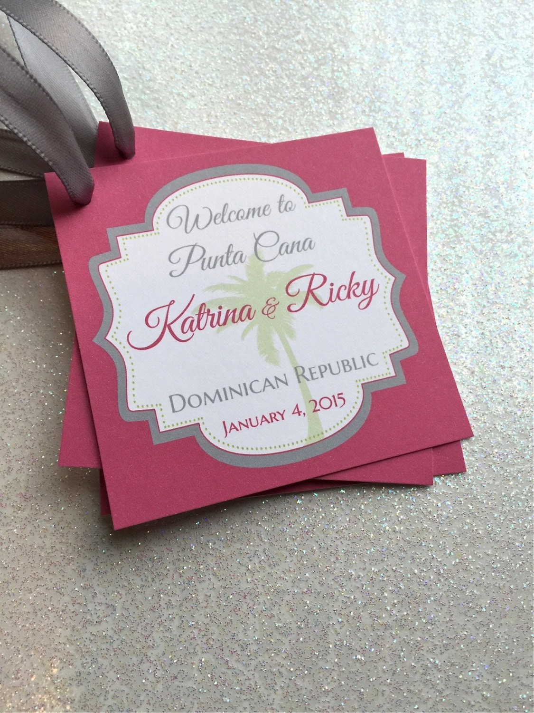 Wedding Favor Bag Tags : Wedding Welcome Bag/Favor Tags Customizable Great for