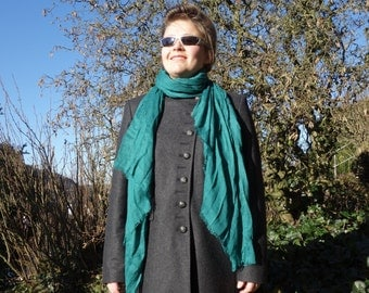EMERALD GREEN SCARF - big scarf - viscose scarf - womens accessories scarves - fashion - elegant style - soft cosy long oversize scarf pareo