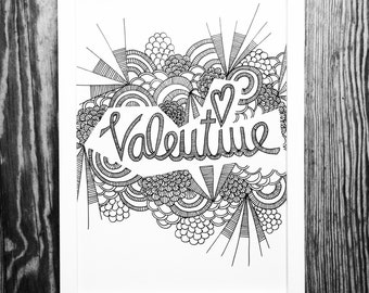 Happy Valentine! Fancy Illustration - Digital print A4 - without stillage.