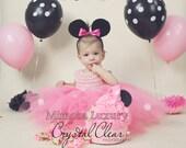 Minnie mouse dress 1st birthday dress girl infant dress baby girl minnie dress toddler party dress girl birthday dress pageant dress