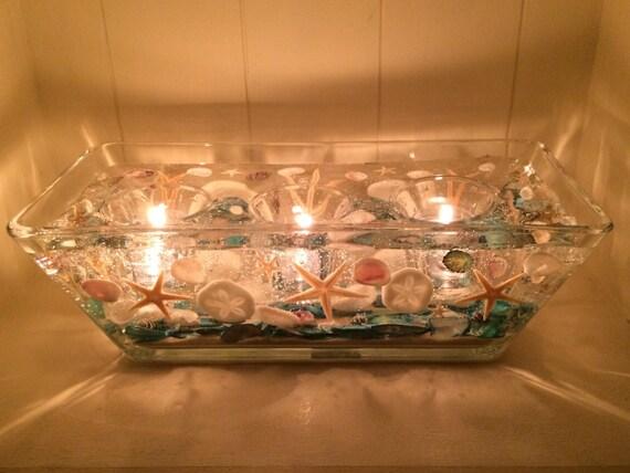 Seashell candle holder reusable wedding gift centerpiece