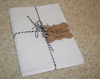 """Set of 8 hand-lettered white """"Jesus"""" cards with envelopes (5"""" x 7"""")"""