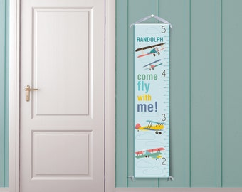 Come Fly With Me - Personalized Children's Growth Chart