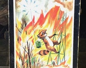 RARE Vintage Antique Estate 1960 Ranger Rick and the Great Forest Fire Board Game National Wildlife Federation Washington DC