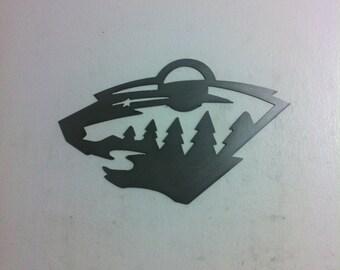 Minnesota Wild steel metal wall art