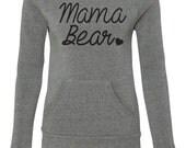 Mama Bear Sweatshirt. Mama Bear Off Shoulder Sweater. Women Eco Fleece Sweatshirt. Cute and Comfortable. Gift Ideas. Mother To Be.