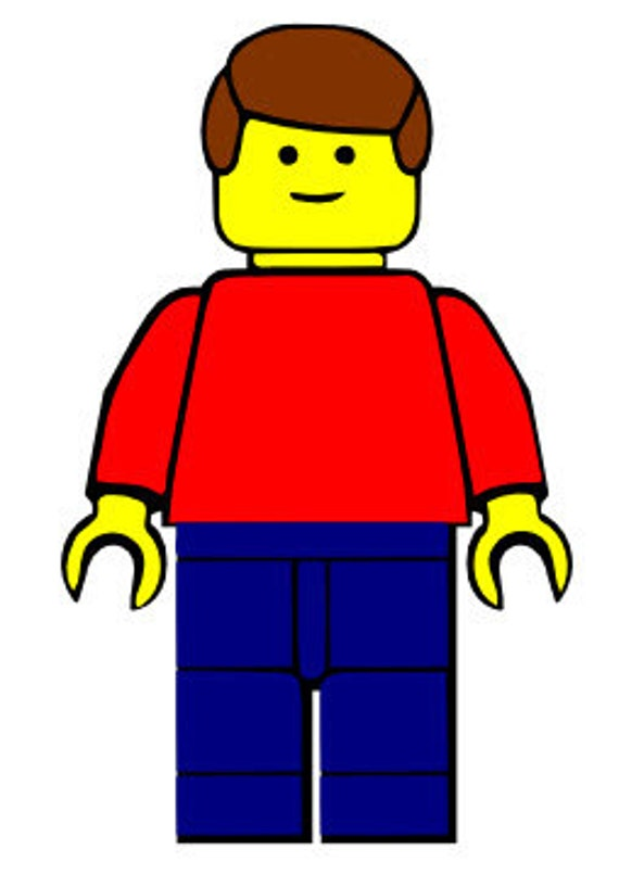 Download Lego Man with hair SVG File by StuffByTroy on Etsy