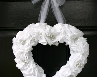Wedding, bridal shower, or anniversary heart wreath.
