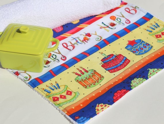 Birthday Table & Coffee Maker Mat by MakingSomethingHappy on Etsy