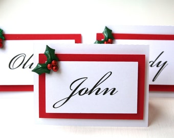 Christmas Dinner Name Place Cards | Home Design