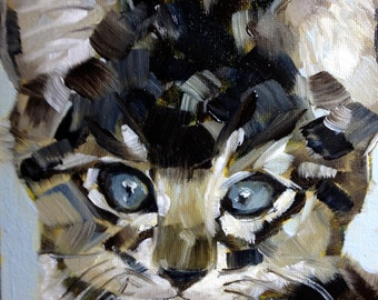 COMMISSIONED PET PORTRAIT painting in oil  by Jean Delaney