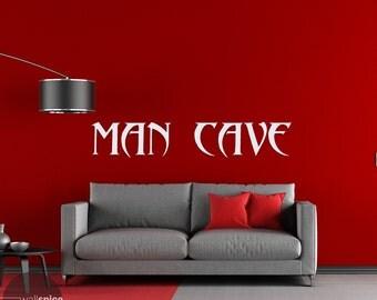 Man Cave Vinyl Wall Decal Sticker
