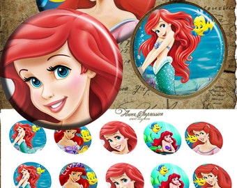 """Ariel -  One 4x6 high-resolution, 300dpi, JPEG file with 15 1"""" Circle images."""