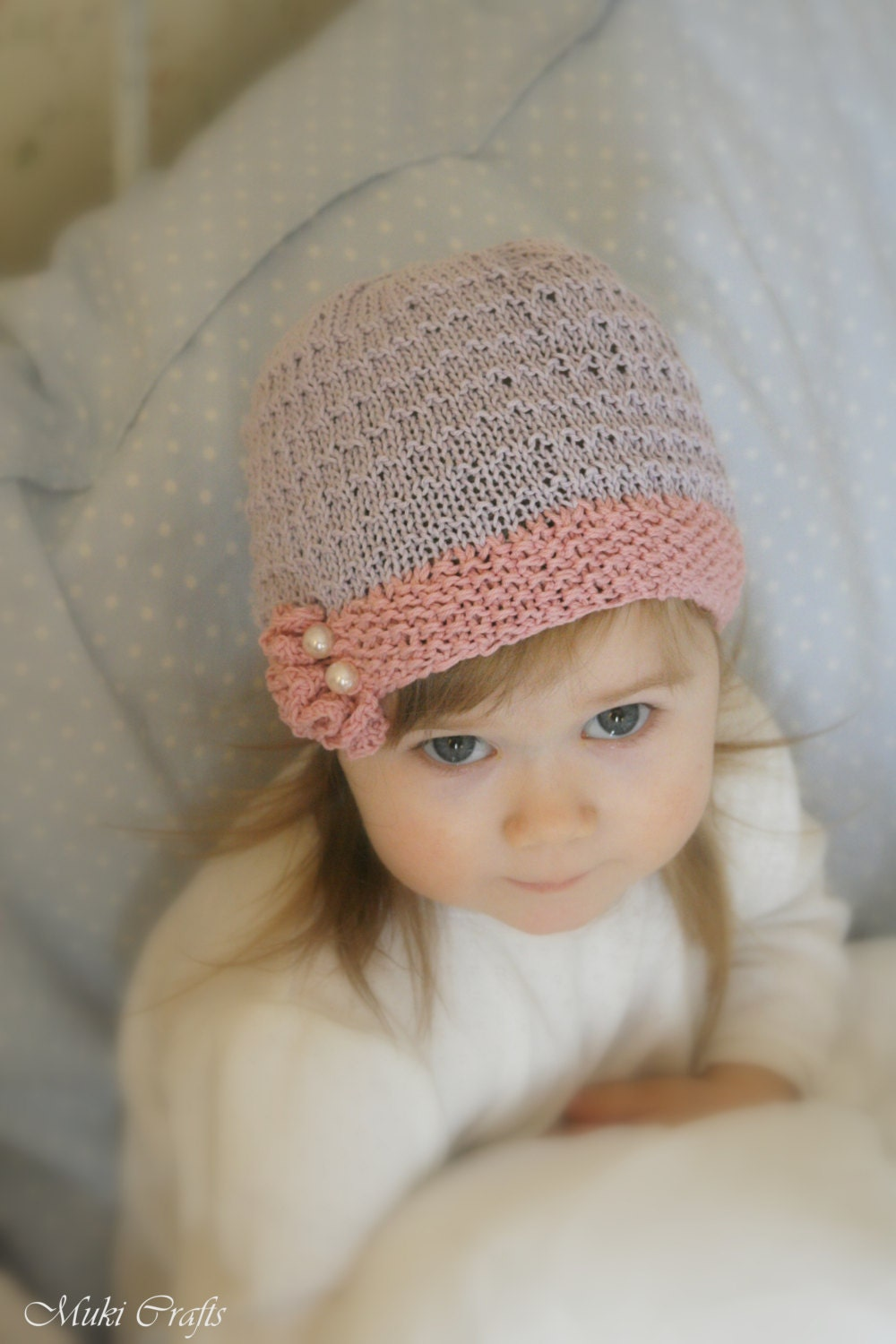 KNITTING PATTERN beanie ruffle hat Yasmine (baby, toddler, child sizes) from ...