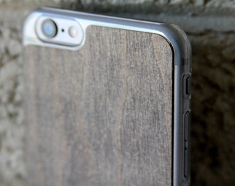 Mahogany Phone cases for iPhone 7/6s & 7 Plus/6s Plus 5/5s and More. Ultra Thin, Clear Snap On Sleeve with Real Wood. Choose from 3 colors!