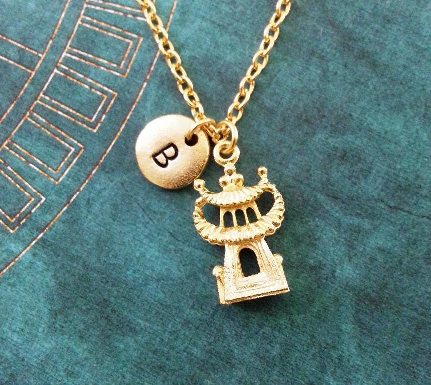 pagoda necklace small building necklace by metalspeak