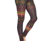 Yoga Leggings Aztec Print Pants Womens Leggings Funky Fashion Leggings Yoga Pants Womens Activewear