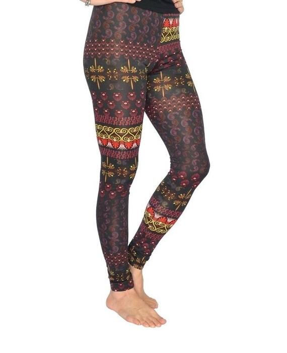 Yoga Leggings, Aztec Print Pants, Women's Leggings, Funky Fashion Leggings, Yoga Pants, Women's Activewear