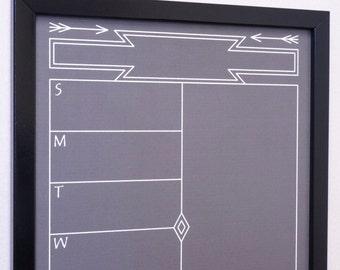 Framed Wall Calendar calendar frame | etsy