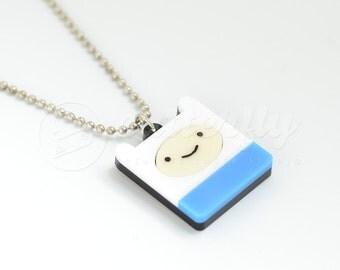FREE SHIPPING - Adventure Time Finn Necklace | Laser Cut Finn