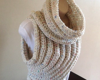 Cross Body Cowl/Archer's Sweater - Crochet Pattern -English/German