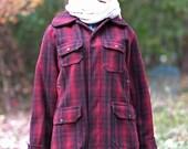 Vintage Woolrich Red Plai...