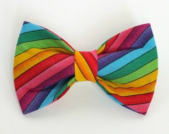 Rainbow Dog Bow Tie, pet bow tie, collar bow tie, wedding bow tie