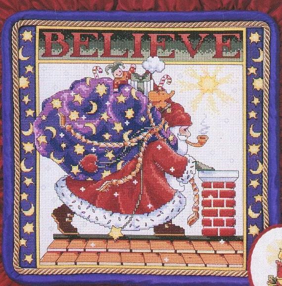Jan Hagara Cross Stitch: Believe Mary Engelbreit Counted Cross Stitch Pattern Leaflet