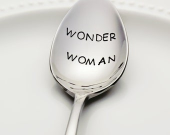 Wonder Woman| Stainless Steel Stamped Spoon | Gifts for Teachers | Stamped Silverware | Gifts for Mom | Womens March Pride | Valentine Gift