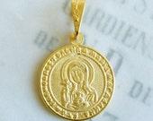 Medal - Saint Mary Magdalene 18K Gold Vermeil Medal - 21mm