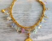 Bracelet - Saint Mary Magdalene Sea Glass - 18K Gold Vermeil