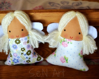 Handmade Fabric Lavender Angel Decoration Lovely Mothers Day Gift Original Mothers Day Gift Angel Softie Angel Decoration Cloth Angel