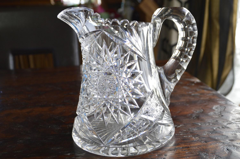 Fantastic Antique American Brilliant Period Cut Crystal