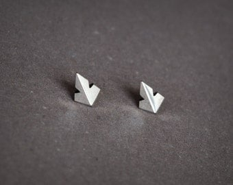 Sterling Silver Stud Earrings Indian Arrow,Boho Stud Earring,Tribal Stud Silver,Small Stud Earrings Men,Faceted Stud Earring,Geometric Studs