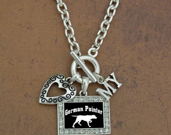 Heart My German Pointer Necklace