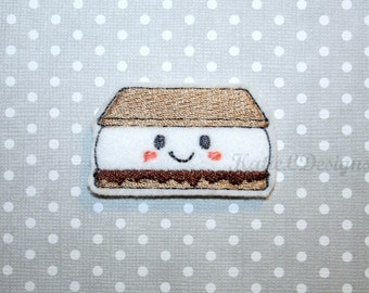 ITH S'more Feltie Machine Embroidery Design Pattern Download 4 Sizes Oversized In The Hoop Felties Felt Food Camping Smore