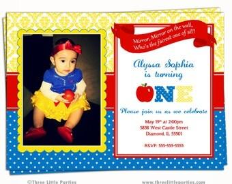 Snow White Invitation Snow White Birthday Invitation Snow